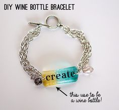 Make wine bottle bracelets @savedbyloves
