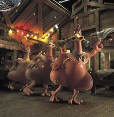 Chicken Run (2000) Dir.  Peter Lord and Nick Park. I've watched this movie so many times and always love it