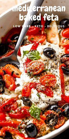 Greek Recipes, Keto Recipes, Vegetarian Recipes, Cooking Recipes, Healthy Recipes, Healthy Food, Yummy Food, Mediterranean Appetizers, Easy Mediterranean Diet Recipes