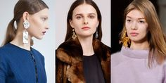 Fall 2015 looks to have an obsession with the oversized: Extra-high platform creepers at Wang, super-large buttons at Victoria Beckham and in the accessory department, look-at-me earrings at Isa Arfen, Adam Lippes and Tibi, where designer Amy Smilovic collaborated with Paige Novick on single sculptural knockouts. From left to right: Isa Arfen, Adam Lippes, Tibi -Tara Lamont-Djite