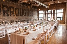 Our venue! Dinner will be in this room, the adjacent room will host the bar and dance floor and several couches.