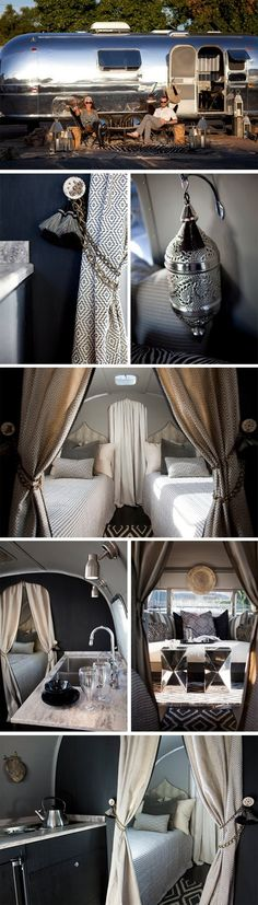 "owner describes her airstream's interior as ""luxe nomadic."" sounds about right."