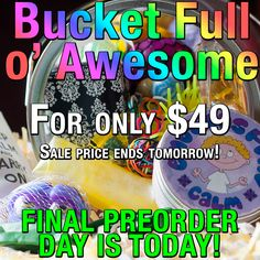 PRE-ORDER SALE ENDS TOMORROW! Get your very own Bucket Full o' Awesome today at the discounted rate of $49! You will receive all of the best fidgets out there! Including: Energizer/Emotions Putty, Mesh Bubonic Plague Ball, Color Mixer Keychain, Glow in the Dark Water Snake, Poppin' Peepers, Foam Lego, Puffer Ball, Water Beads, Rubberband Ball, BREATHE Worry Stone, Pufferball Bracelet, and more! http://asperkids.com/shop/kit-bucket-full-o-awesome/