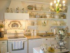 Kitchen Makeover: Shabby French Cottage: French Farm Kitchen oh yah Farm Kitchen Ideas, New Kitchen, Kitchen Decor, Design Kitchen, Cozy Kitchen, Kitchen White, Kitchen Furniture, Kitchen Interior, Cheap Kitchen