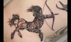 awesome Tattoo Trends - 25 Unique Sagittarius Tattoo Designs - Types And Meanings Horoscope Tattoos, Zodiac Sign Tattoos, Symbol Tattoos, Zodiac Signs, Sick Tattoo, Arm Tattoo, Thigh Tattoos, Tattoo Art, Archer Tattoo