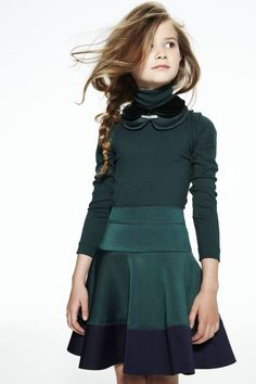 JAKIOO dark petrol color dress tween fashion