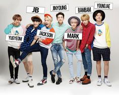 Got7 members with names Yugyeom, Youngjae, Yugeom Got7, Markson Got7, Bigbang Members, Got7 Members, Shinee, Taemin, Got7 Jackson