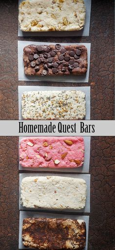 Learn how to make quest bars the easy way. Add any toppings you& like! Learn how to make quest bars the easy way. Add any toppings youd like! Protein Snacks, Vegan Protein, Low Carb Protein Bars, Protein Bar Recipes, Protein Power, Ideal Protein, Whey Protein, High Protein, Low Carb Desserts