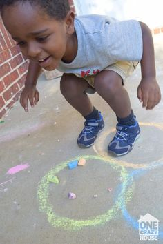 Chalk game to keep even the most active child entertained.