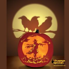There's No Business Like Crow Business pumpkin.