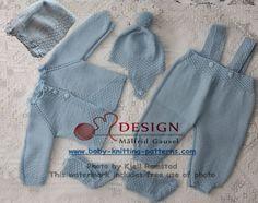 Billedresultat for hentesett baby Baby Boy Knitting Patterns Free, Baby Patterns, Baby Knitting, Crochet Patterns, Baby Pullover, Baby Cardigan, Baby Barn, Baby Sweaters, Baby Design