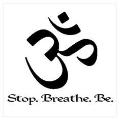 Om Breathe & Be (Cafe Press Yoga section) Om Symbol Tattoo, 4 Tattoo, Piercing Tattoo, Piercings, Yoga Tattoos, New Tattoos, Body Art Tattoos, Small Tattoos, Tatoos