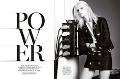 visual optimism; fashion editorials, shows, campaigns & more!: power: alyona subbotina by james macari for uk marie claire july 2014