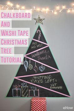 Chalkboard and Washi Tape Christmas Tree Tutorial