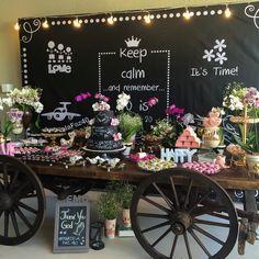 Orquídeas e mesa carroça ❤️ #silviareiseventos #festatop