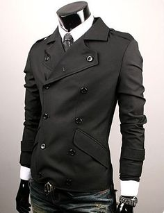 Mens Slim Skiny Sexy Top Designed Coat Jacket