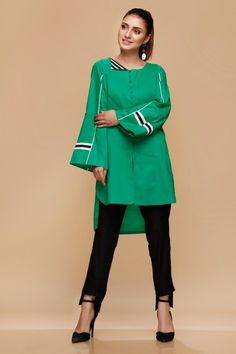 Mausummery Stitched Women Winter Dresses Designs Collection consists of embroidered stitched suits ready to wear shirts with trousers. Simple Pakistani Dresses, Pakistani Fashion Casual, Pakistani Dress Design, Pakistani Outfits, Pakistani Clothing, Indian Dresses, Stylish Dress Book, Stylish Dresses, Simple Dresses