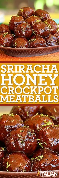 This is for the sriracha lover in you. Sriracha Honey Slow Cooker Meatballs are hot, sweet, tangy and wildly addictive. A simple recipe, this dish just about cooks itself. Add the sauce ingredients, form the meatballs. Toss them in the slow cooker and viola. The best make ahead game day or any day food. What more could you ask for?