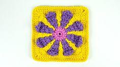 Criações em crochê: Flor em Square   Luciana Ponzo