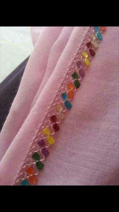@harikaelisleri68 Baby Knitting Patterns, Hand Knitting, Sewing Patterns, Crochet Patterns, Indian Embroidery Designs, Creative Embroidery, Crochet Borders, Crochet Lace, Cross Stitch Embroidery