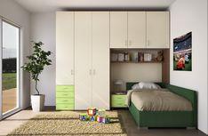 BADROOM - centri camerette specializzati in camere e camerette per ragazzi - cameretta con letto imbottito con contenitore