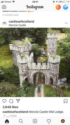 Monzie Castle - Travel tips - Travel tour - travel ideas Castle Ruins, Medieval Castle, Old Buildings, Abandoned Buildings, Abandoned Castles, Abandoned Places, Beautiful Castles, Beautiful World, Ancient Architecture
