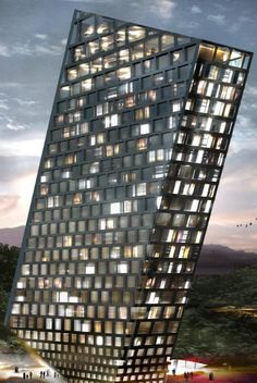 TLT Tilting Building by BIG (Bjarke Ingels Group)