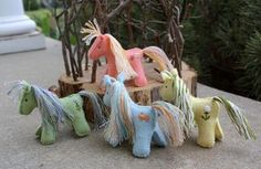 Felt Ponies- Why are they coloured!! These would be gorgeous in natural wool colours...