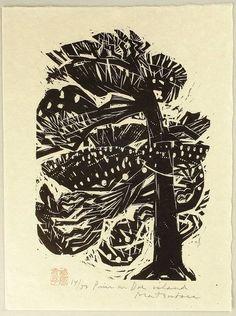 Woodcuts by Matsubara Naoko The distinguished woodcut print...