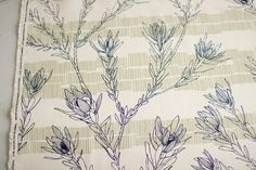 Leuca in Inky Blue Moss from Ink & Spindle