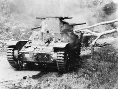 """A Japanese Type 95 """"Ha-Go"""" tank."""