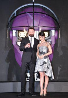 Hugh Jackman and actress Ayame Gouriki