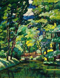 """Landscape w/ a Pond"" -- 1921 -- Ilya Mashkov -- Russian --Oil on canvas -- No further reference provided. Watercolor Art, Landscape Paintings, Art Photography, Photo Art, Amazing Art, Art, Art And Architecture, Landscape Art, Beautiful Art"