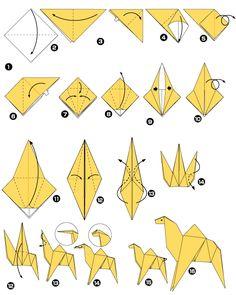 Dromadaire en origami
