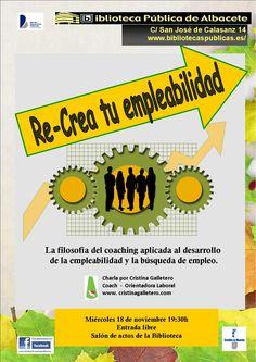 #actividadesBiblioteca Re-crea tu empleabilidad, con Cristina Galletero