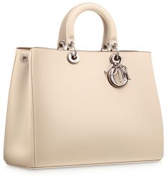 DIORISSIMO - Smooth pinky beige leather 'Diorissimo' bag