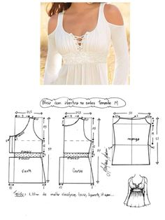 Discover thousands of images about Patrones top Dress Sewing Patterns, Sewing Patterns Free, Clothing Patterns, Diy Clothing, Sewing Clothes, Look Fashion, Diy Fashion, Costura Fashion, Diy Vetement