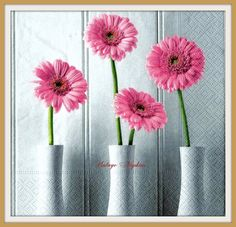 A personal favorite from my Etsy shop https://www.etsy.com/listing/285499369/paper-napkins-for-decoupage-pink-gerbera