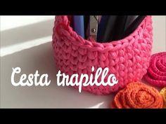 Como hacer cesta redonda de trapillo fácil | ganchillo fácil - YouTube Crochet Cable, Crochet Home, Double Crochet, Beginner Crochet Tutorial, Crochet For Beginners, Crochet Toddler Hat, Braidless Crochet, Single Crochet Decrease, Linen Stitch