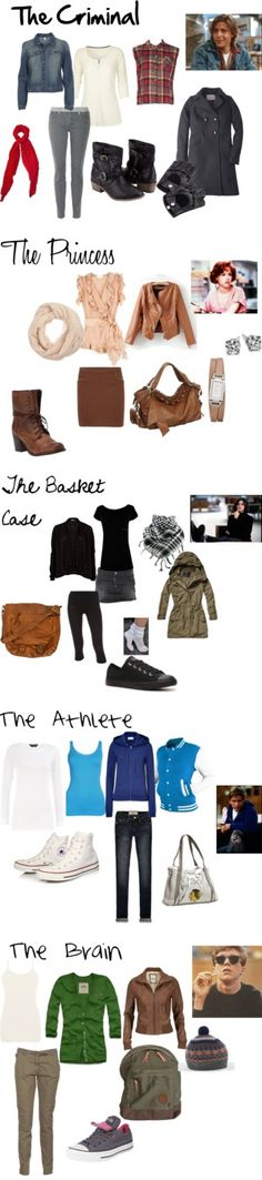 """""""The Breakfast Club"""" outfits Trend Fashion, 80s Fashion, Womens Fashion, Fashion Ideas, Classy Fashion, School Fashion, Pretty Outfits, Cool Outfits, Pretty Clothes"""