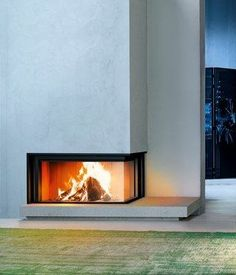 Discover Wood-burning Fireplaces Online Catalogue of MCZ: a wide range of Modern… Living Spaces, Living Room, Into The Woods, Wood Fireplace, Degas, Make Design, Cladding, Furniture Design, Home Appliances