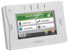"""2-Way Wireless TouchScreen Arming Station Alarm Depot Puerto Rico. 4.3 """"pantalla a todo color,AC plug-in  baterías recargables, 24 horas de batería de respaldo, indicaciones Voice chime/voice prompts,Monte para pared y escritorio, soporte multi-idioma,duración de la batería 3-5 años interruptor de seguridad, compatible con IMPASSA, ALEXOR y PowerSeries, 5 teclas de función programables,3 teclas de emergencia"""