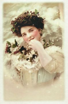 Rice Paper for Decoupage, Scrapbooking Sheets Old Pictures Lady in White