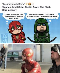 Arrow & Flash or Ollie & Barry #lordmesaart