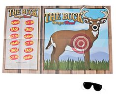 The Buck Stops Here pin style party game will be a hit at your deer hunting themed birthday party!