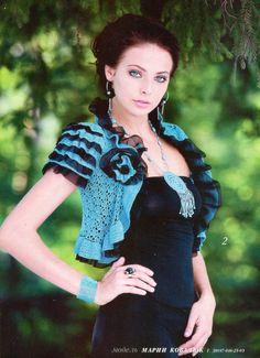 Crochetemoda: Crochet - Bolero Azul II