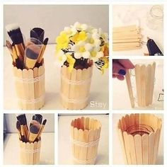 You'll be able to tag your folks. it too_ . Diy Crafts Hacks, Diy Home Crafts, Diy Arts And Crafts, Easy Crafts, Easy Diy, Diy For Kids, Crafts For Kids, Diy Popsicle Stick Crafts, Do It Yourself Decoration