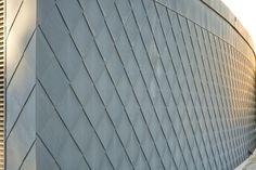 VMZINC Flat lock panel in QUARTZ-ZINC Gilbertson Photography