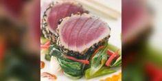 Gegrilde tonijn met courgettes en aubergines