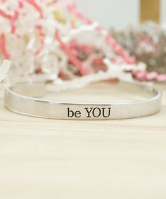 Katy Ryan Designs Silvertone Be You Daily Reminder Adjustable Cuff | zulily
